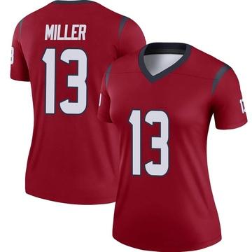 Women's Nike Houston Texans Braxton Miller Red Jersey - Legend
