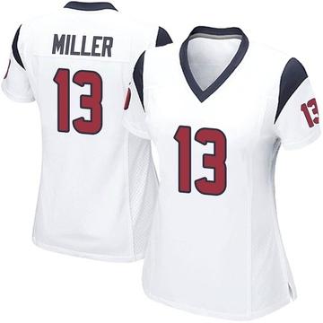 Women's Nike Houston Texans Braxton Miller White Jersey - Game