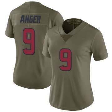 Women's Nike Houston Texans Bryan Anger Green 2017 Salute to Service Jersey - Limited
