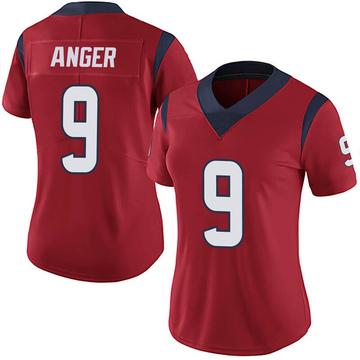 Women's Nike Houston Texans Bryan Anger Red Alternate Vapor Untouchable Jersey - Limited
