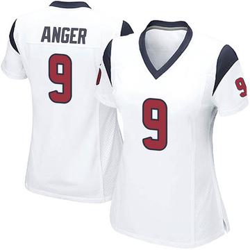 Women's Nike Houston Texans Bryan Anger White Jersey - Game