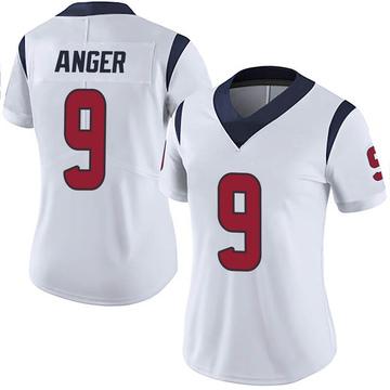 Women's Nike Houston Texans Bryan Anger White Vapor Untouchable Jersey - Limited