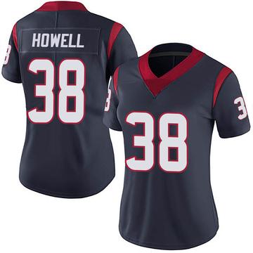 Women's Nike Houston Texans Buddy Howell Navy 100th Vapor Jersey - Limited