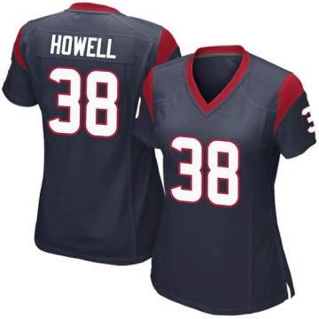 Women's Nike Houston Texans Buddy Howell Navy Blue Team Color Jersey - Game