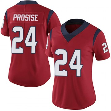 Women's Nike Houston Texans C.J. Prosise Red Alternate Vapor Untouchable Jersey - Limited