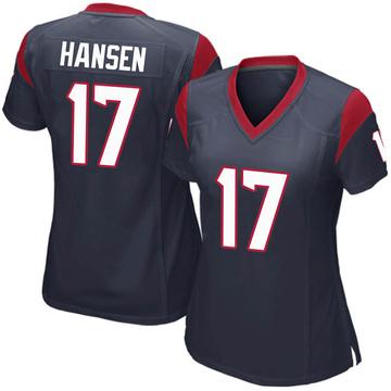 Women's Nike Houston Texans Chad Hansen Navy Blue Team Color Jersey - Game