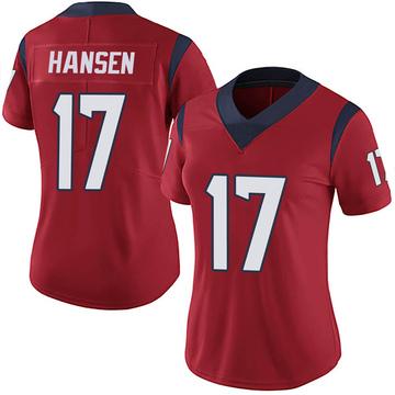 Women's Nike Houston Texans Chad Hansen Red Alternate Vapor Untouchable Jersey - Limited