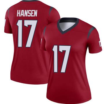 Women's Nike Houston Texans Chad Hansen Red Jersey - Legend