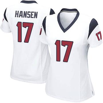 Women's Nike Houston Texans Chad Hansen White Jersey - Game