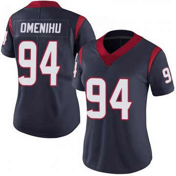 Women's Nike Houston Texans Charles Omenihu Navy 100th Vapor Jersey - Limited