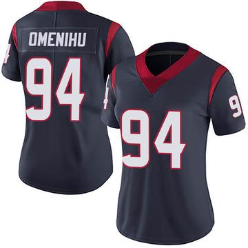 Women's Nike Houston Texans Charles Omenihu Navy Blue Team Color Vapor Untouchable Jersey - Limited