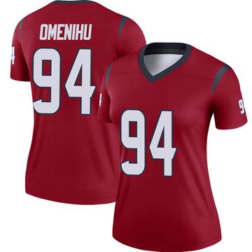 Women's Nike Houston Texans Charles Omenihu Red Jersey - Legend