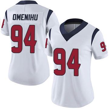 Women's Nike Houston Texans Charles Omenihu White Vapor Untouchable Jersey - Limited