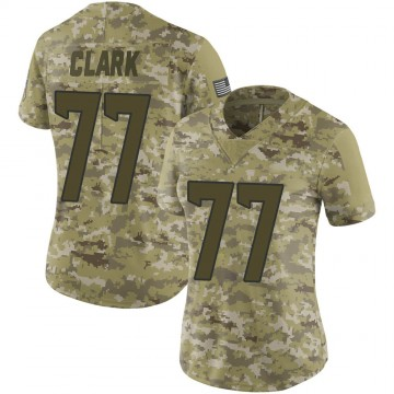 Women's Nike Houston Texans Chris Clark Camo 2018 Salute to Service Jersey - Limited