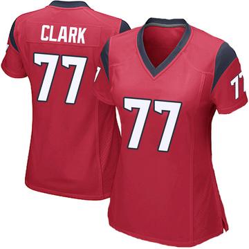 Women's Nike Houston Texans Chris Clark Red Alternate Jersey - Game