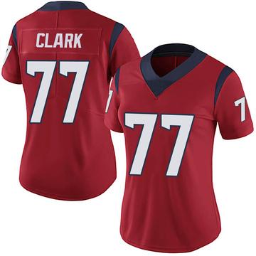 Women's Nike Houston Texans Chris Clark Red Alternate Vapor Untouchable Jersey - Limited