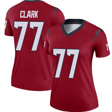 Women's Nike Houston Texans Chris Clark Red Jersey - Legend