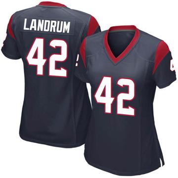 Women's Nike Houston Texans Chris Landrum Navy Blue Team Color Jersey - Game