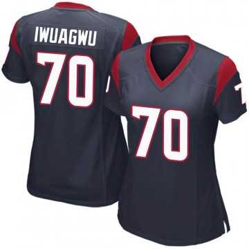 Women's Nike Houston Texans Cordel Iwuagwu Navy Blue Team Color Jersey - Game