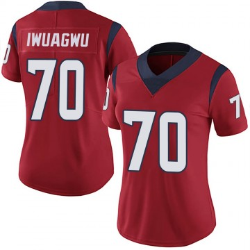 Women's Nike Houston Texans Cordel Iwuagwu Red Alternate Vapor Untouchable Jersey - Limited
