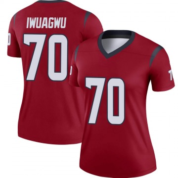 Women's Nike Houston Texans Cordel Iwuagwu Red Jersey - Legend