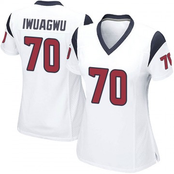 Women's Nike Houston Texans Cordel Iwuagwu White Jersey - Game
