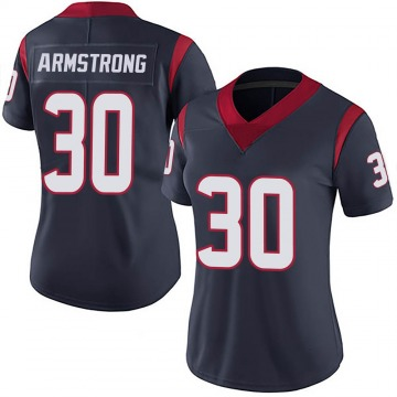 Women's Nike Houston Texans Cornell Armstrong Navy 100th Vapor Jersey - Limited