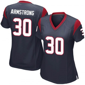 Women's Nike Houston Texans Cornell Armstrong Navy Blue Team Color Jersey - Game