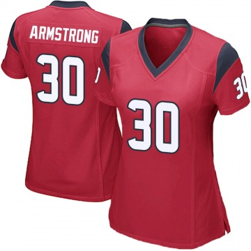 Women's Nike Houston Texans Cornell Armstrong Red Alternate Jersey - Game