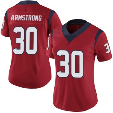 Women's Nike Houston Texans Cornell Armstrong Red Alternate Vapor Untouchable Jersey - Limited