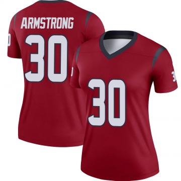 Women's Nike Houston Texans Cornell Armstrong Red Jersey - Legend