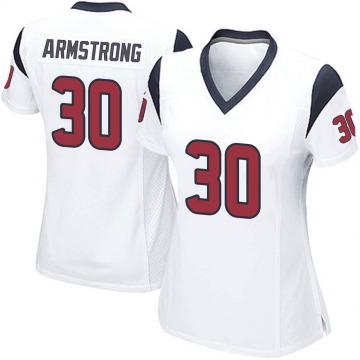 Women's Nike Houston Texans Cornell Armstrong White Jersey - Game