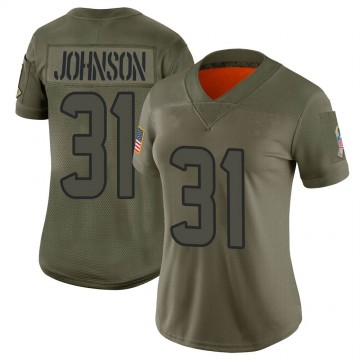 Women's Nike Houston Texans David Johnson Camo 2019 Salute to Service Jersey - Limited