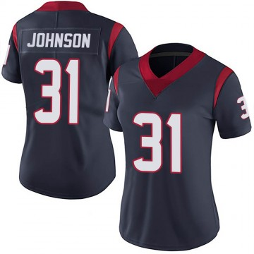 Women's Nike Houston Texans David Johnson Navy 100th Vapor Jersey - Limited
