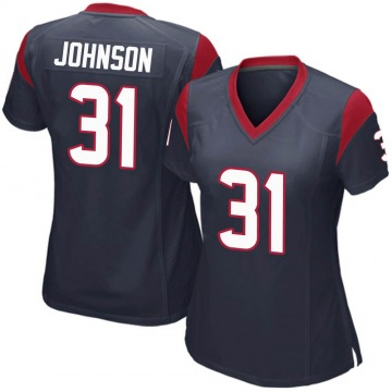 Women's Nike Houston Texans David Johnson Navy Blue Team Color Jersey - Game