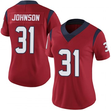 Women's Nike Houston Texans David Johnson Red Alternate Vapor Untouchable Jersey - Limited