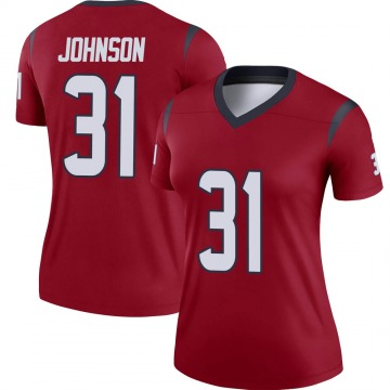 Women's Nike Houston Texans David Johnson Red Jersey - Legend