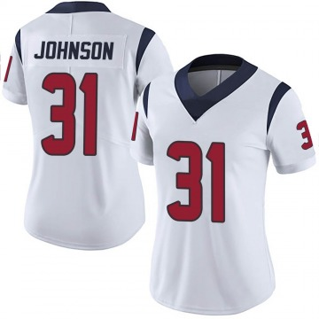 Women's Nike Houston Texans David Johnson White Vapor Untouchable Jersey - Limited