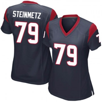 Women's Nike Houston Texans David Steinmetz Navy Blue Team Color Jersey - Game