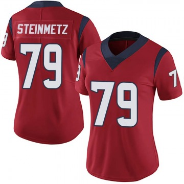 Women's Nike Houston Texans David Steinmetz Red Alternate Vapor Untouchable Jersey - Limited