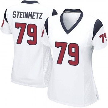 Women's Nike Houston Texans David Steinmetz White Jersey - Game