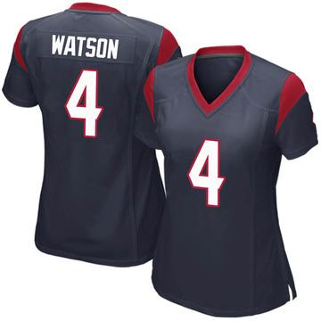Women's Nike Houston Texans Deshaun Watson Navy Blue Team Color Jersey - Game