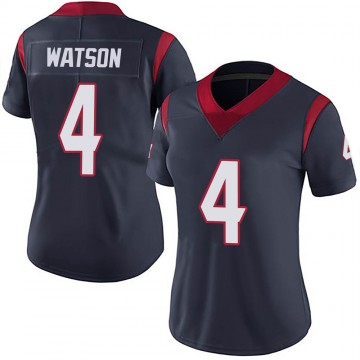 Women's Nike Houston Texans Deshaun Watson Navy Blue Team Color Vapor Untouchable Jersey - Limited
