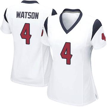 Women's Nike Houston Texans Deshaun Watson White Jersey - Game