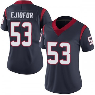 Women's Nike Houston Texans Duke Ejiofor Navy Blue Team Color Vapor Untouchable Jersey - Limited