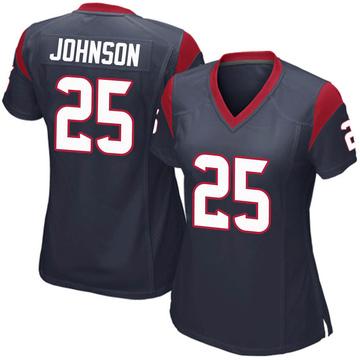 Women's Nike Houston Texans Duke Johnson Jr. Navy Blue Team Color Jersey - Game