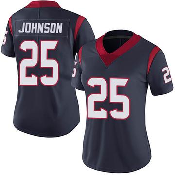 Women's Nike Houston Texans Duke Johnson Jr. Navy Blue Team Color Vapor Untouchable Jersey - Limited