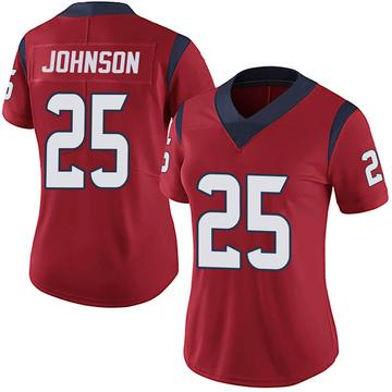 Women's Nike Houston Texans Duke Johnson Jr. Red Alternate Vapor Untouchable Jersey - Limited