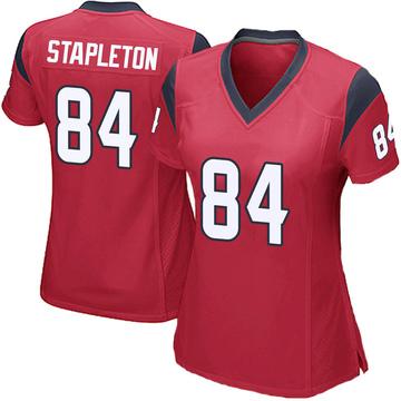Women's Nike Houston Texans Dylan Stapleton Red Alternate Jersey - Game