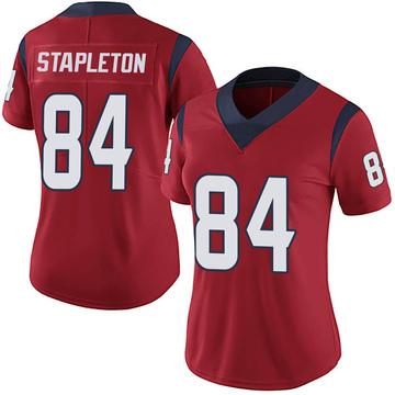 Women's Nike Houston Texans Dylan Stapleton Red Alternate Vapor Untouchable Jersey - Limited